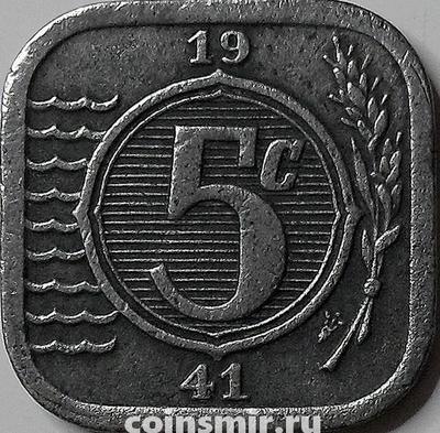 5 центов 1941 Нидерланды.