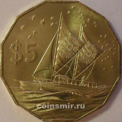 5 долларов 2015 Острова Кука.