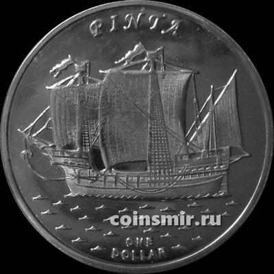 1 доллар 2016 острова Гилберта. Пинта.