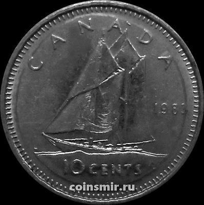 10 центов 1983 Канада. Парусник.