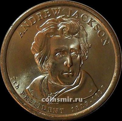 1 доллар 2008 D США. 7-й президент США Эндрю Джексон.
