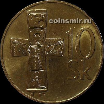 10 крон 1994 Словакия. (в наличии 1995 год)