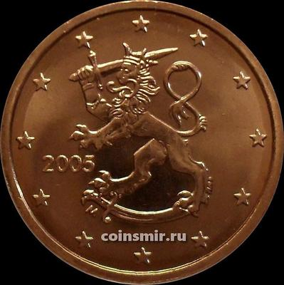 5 евроцентов 2005 М Финляндия.