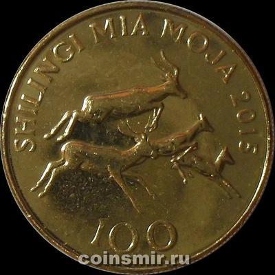 100 шиллингов 2015 Танзания.