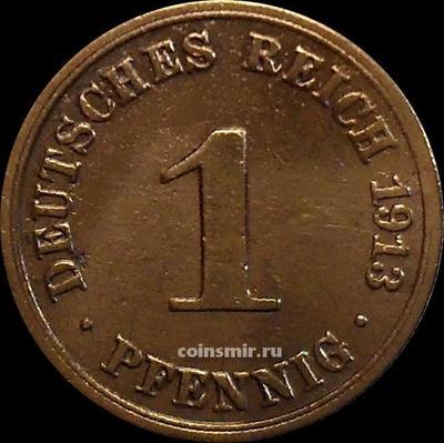 1 пфенниг 1913 А Германия.