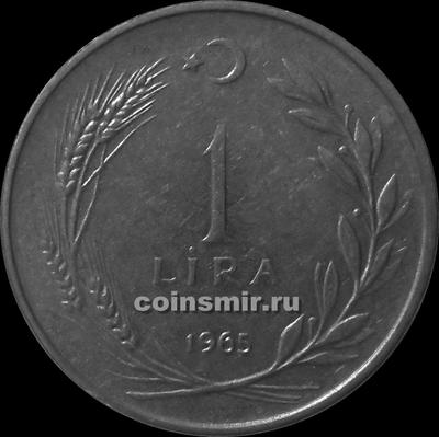 1 лира 1965 Турция. (в наличии 1966 год)