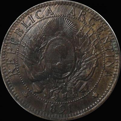 2  сентаво 1891 Аргентина.