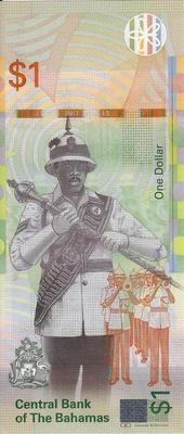 1 доллар 2017 Багамские острова.