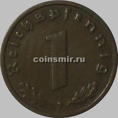 1 пфенниг 1937 F Германия.