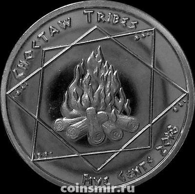 5 центов 2018 племя Чокто.
