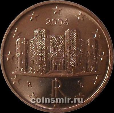 1 евроцент 2004 Италия.