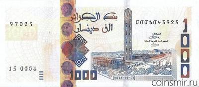 1000 динар 2018 Алжир.