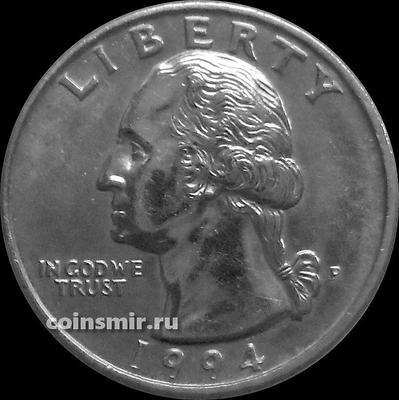 25 центов 1994 P США. Джордж Вашингтон.