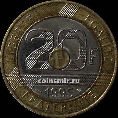 20 франков 1995 Франция. Мон-Сен-Мишель.