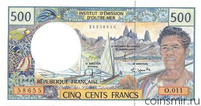 500 франков 1992-2013 Французские Тихоокеанские территории.