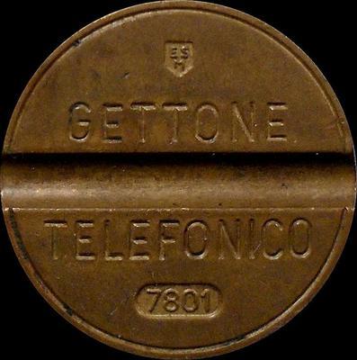 Жетон телефонный 1978 года Италия. 7801 ESM - Emilio Senesi Medaglie.