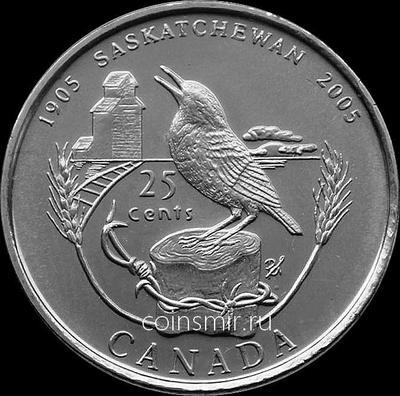 25 центов 2005 Канада. 100 лет провинции Саскачеван.