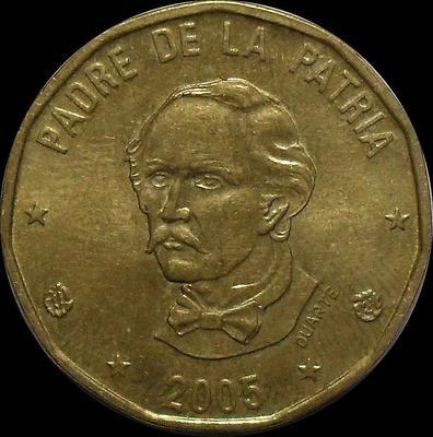 1 песо 2005 Доминиканская республика.