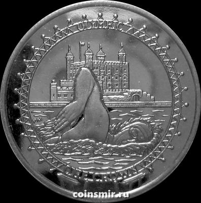 1 крона 2010 остров Мэн. Плавание. Летняя Олимпиада в Лондоне 2012.