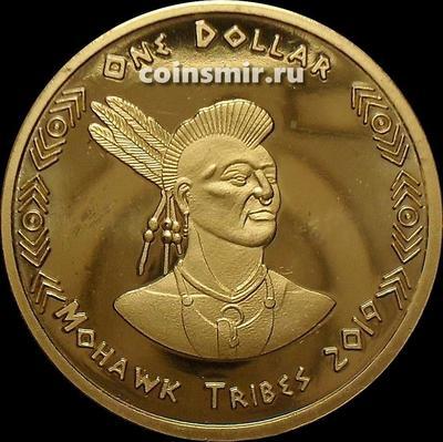 1 доллар 2019 племя Мохоки.
