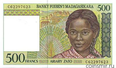 500 франков 1994 Мадагаскар.