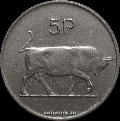 5 пенсов 1985 Ирландия. Бык.