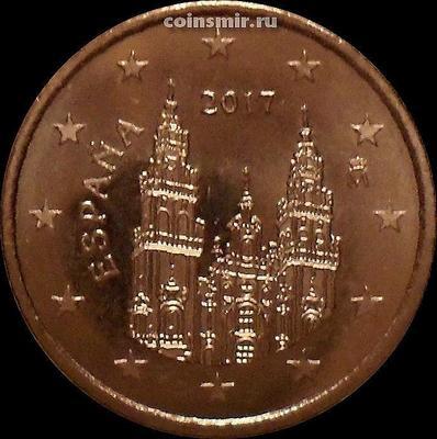 5 евроцентов 2017 Испания. Кафедральный собор Святого Якова.