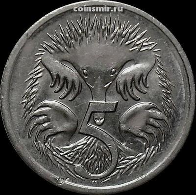 5 центов 2002 Австралия. Ехидна.