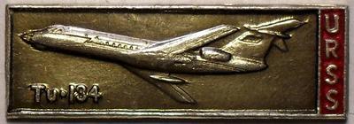 Значок ТУ-134 URSS.