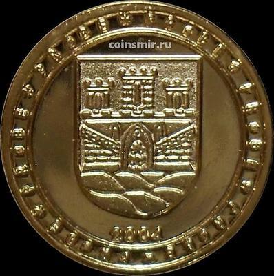 10 евроцентов 2004 Норвегия. Герб. Европроба. Ceros.