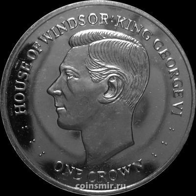 1 крона 2017 Фолклендские острова. Столетие Дома Виндзоров – Георг VI.