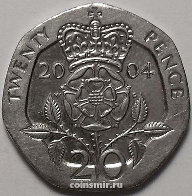20 пенсов 2004 Великобритания.
