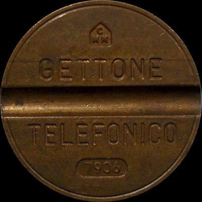 Жетон телефонный 1979 года Италия. 7906 CMM - Costruzioni Minuterie Metalliche.