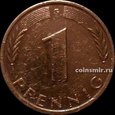 1 пфенниг 1973 G Германия ФРГ.