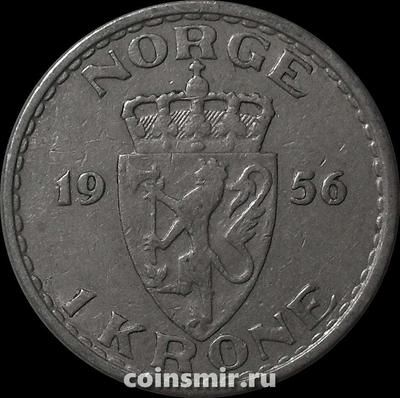 1 крона 1956 Норвегия.