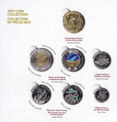 Набор из 7 монет 2017 Канада. 150 лет Канаде.