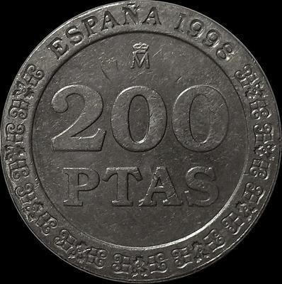 200 песет 1998 Испания. (в наличии 2000 год)
