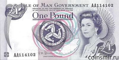 1 фунт 2009 остров Мэн. АА.