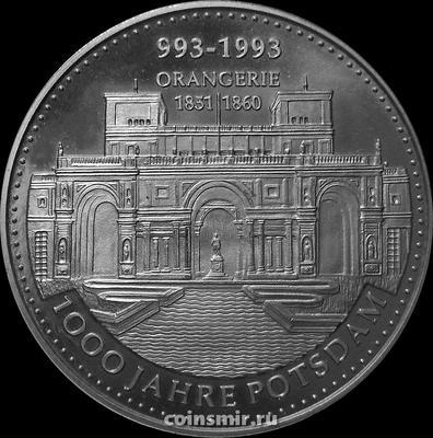 Жетон 1993 Германия. Оранжерейный дворец. 1000 лет Потсдаму.