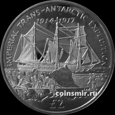 2 фунта 2017 Южная Георгия и Южные Сандвичевы острова. Имперская трансантарктическая экспедиция 1914–1917  и судно «Эндьюранс».