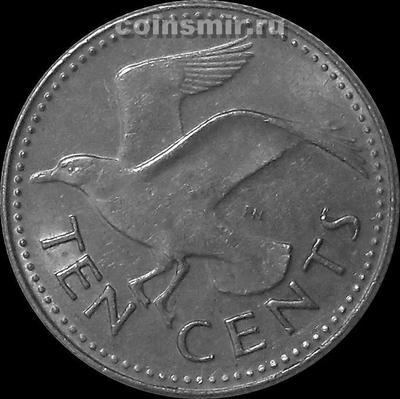 10 центов 1987 Барбадос. Чайка.