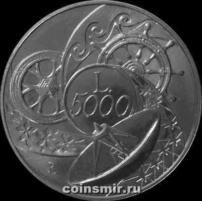 5000 лир 1999 Италия. Миллениум - Земля.