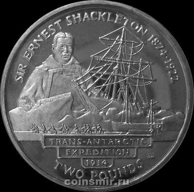 2 фунта 2004 Южная Георгия и Южные Сандвичевы острова. Эрнест Генри Шеклтон — трансантарктическая экспедиция 1914 года.