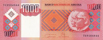 1000 кванз 2011 Ангола.