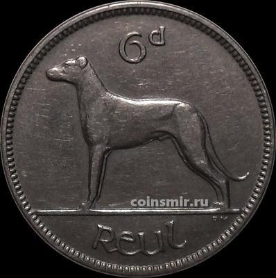 6 пенсов 1934 Ирландия. Собака.