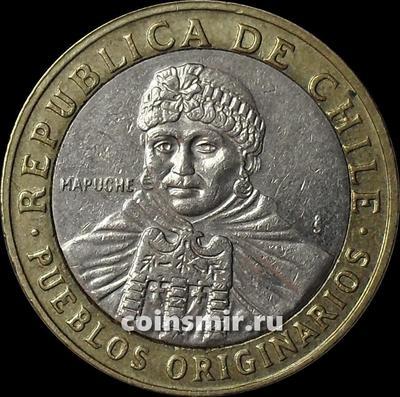 100 песо 2009 Чили.