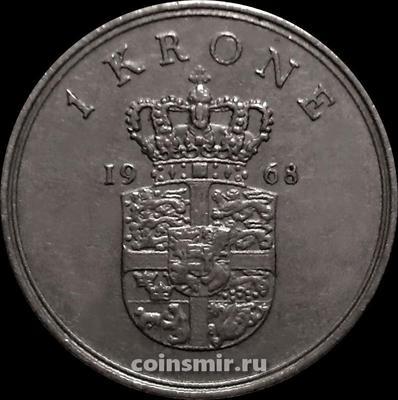 1 крона 1968 C;S Дания.