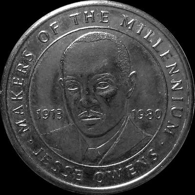 Жетон Джесси Оуэнс 1913-1980. Миллениум 2000.