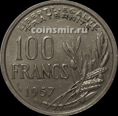 100 франков 1957 В Франция.