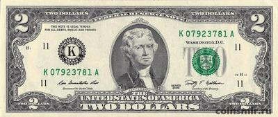 2 доллара 2009 К США.